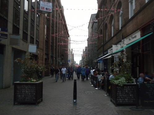 A pedestrian lane in Edinburgh.