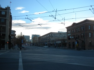 200 South in Salt Lake City would be an incredible street in almost any other city due to it's cool warehouse lofts. But in Salt Lake, the wide street creates a height to width ratio that saps away much of the charm.
